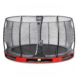 EXIT Elegantní pozemní trampolína ø427cm s bezpečnostní sítí Economy - červený