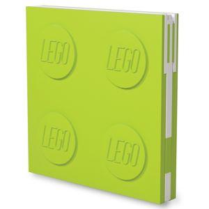 LEGO Zápisník s gelovým perem jako klipem - světle zelený