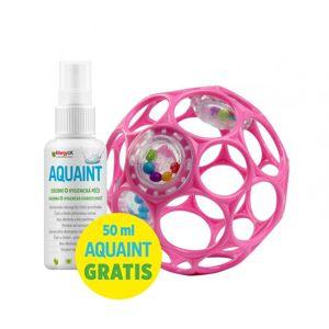 Oball Hračka OBALL RATTLE 10 cm 0m+ dark pink+DÁREK Aquaint 50ml