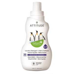 ATTITUDE Prací gel a aviváž (2 v 1) s vůní Mountain Essentials 1050 ml (35 dávek)