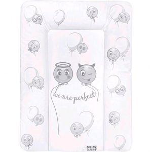 New Baby-Přebalovací podložka měkká New Baby Emotions bílá 70x50cm