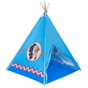 PlayTo Dětský indiánský stan teepee modrý