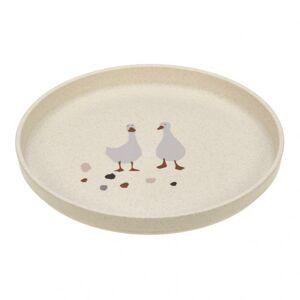 Lässig Plate PP/Cellulose Tiny Farmer Sheep/Goose nature dětský talíř