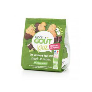 Good Gout BIO Máslová zvířátka polomáčená v hořké čokoládě (120 g)