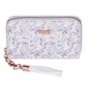 OXY LADY Dámská peněženka malá - White leaves