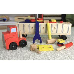 Melissa & Doug - Dřevěná konstrukční stavebnice - auto