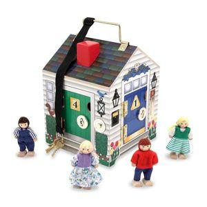 Melissa & Doug - Výuková hračka - domek se zvonky a zámky