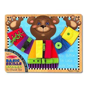 Melissa & Doug - Výuková hračka Medvěd - zapínání