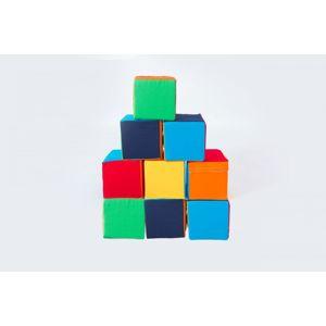 Moliplay Molitanová stavebnice Moliplay 9 dílů barevné kostky koženka velikost XXL