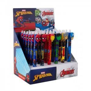 COLORINO Gumovatelné pero - Marvel, stiskací mechanismus, modrá náplň