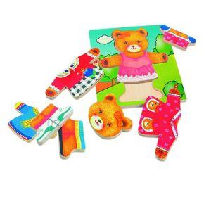 Woody Puzzle šatní skříň Medvědice, 18 dílů