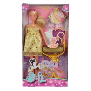 SIMBA S 5737084 Panenka Steffi Těhotná princezna-poškozené zboží