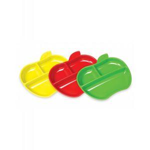 Munchkin - Set barevných dělených talířů ve tvaru jablka 3ks