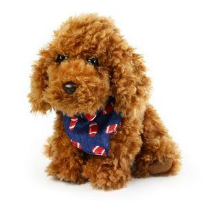 Plyšový pes Vafle se šátkem, 23 cm