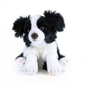 Rappa Plyšový pes Border kolie sedící 28 cm